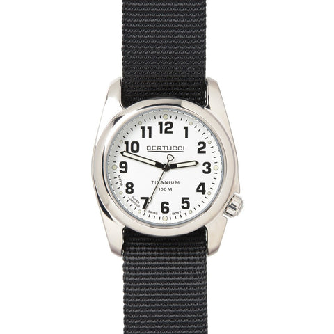 Bertucci Highpolish Watch | White/Black Nylon 12092