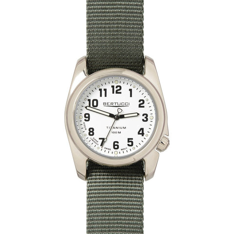 Bertucci Highpolish Watch | White/Defender Drab Nylon 12093