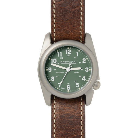 Bertucci A-2T Original Classics Watch | Drab/Nut Brown Leather 12094