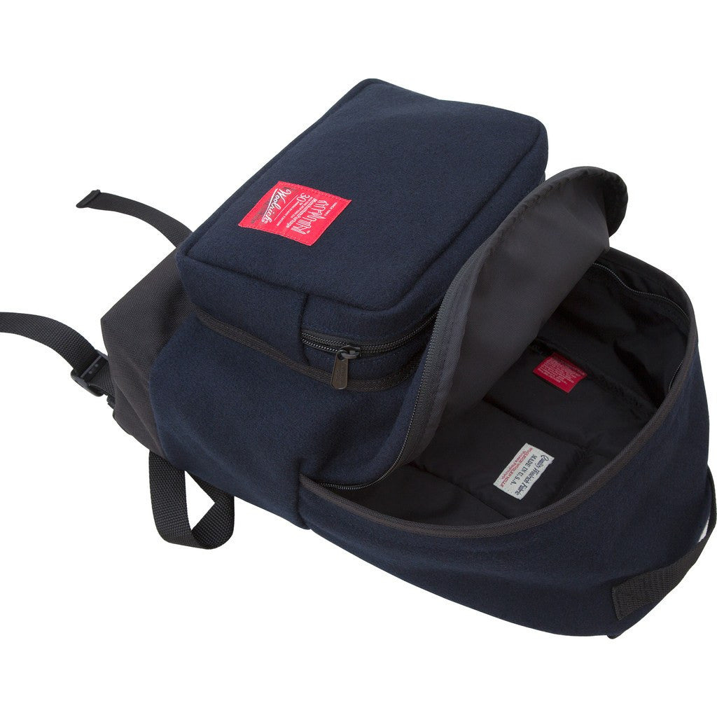 Manhattan Portage x Woolrich Medium Big Apple Backpack | Navy
