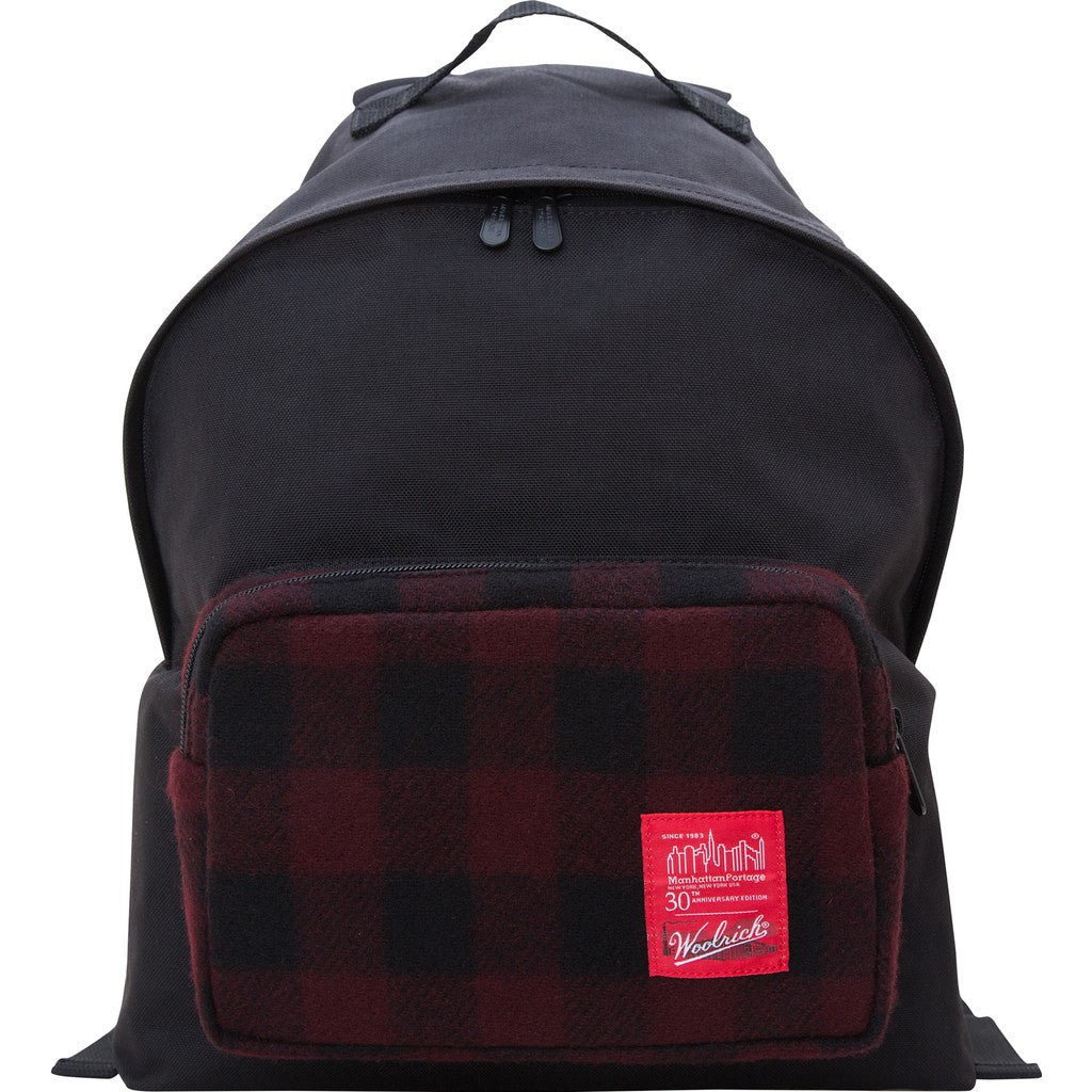 Manhattan Portage x Woolrich Medium Big Apple Backpack | 1209-WLR NVY/BLK | 1209-WLR RED/BLK | 1209-WLR WHT/BLK