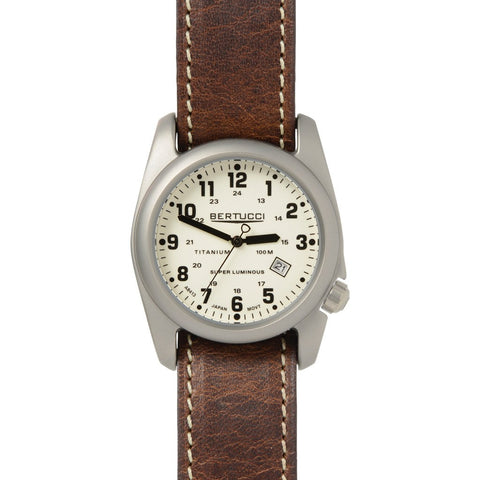 Bertucci A-2T Original Classics Watch | Beige/Nut Brown Leather 12101
