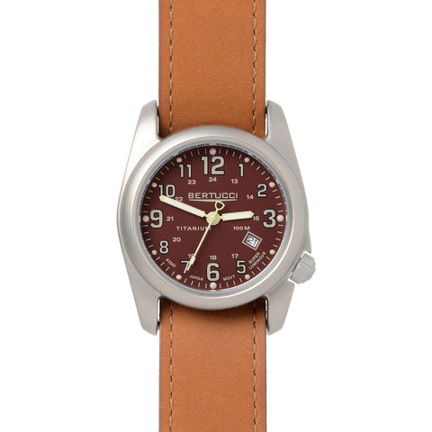 Bertucci Field Colors Watch | Crimson/Tan Leather 12103