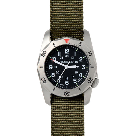Bertucci A-2TR Vintage Watch | Defender Olive Nylon 12115
