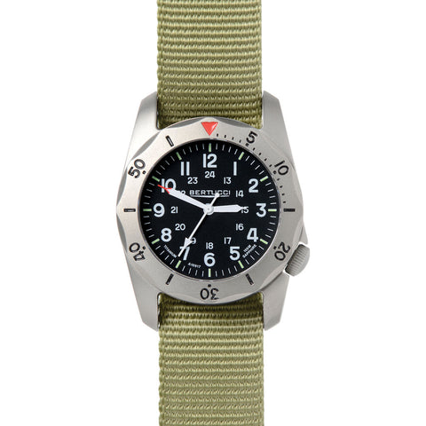 Bertucci A-2TR Vintage Watch | Patrol Green Nylon 12116