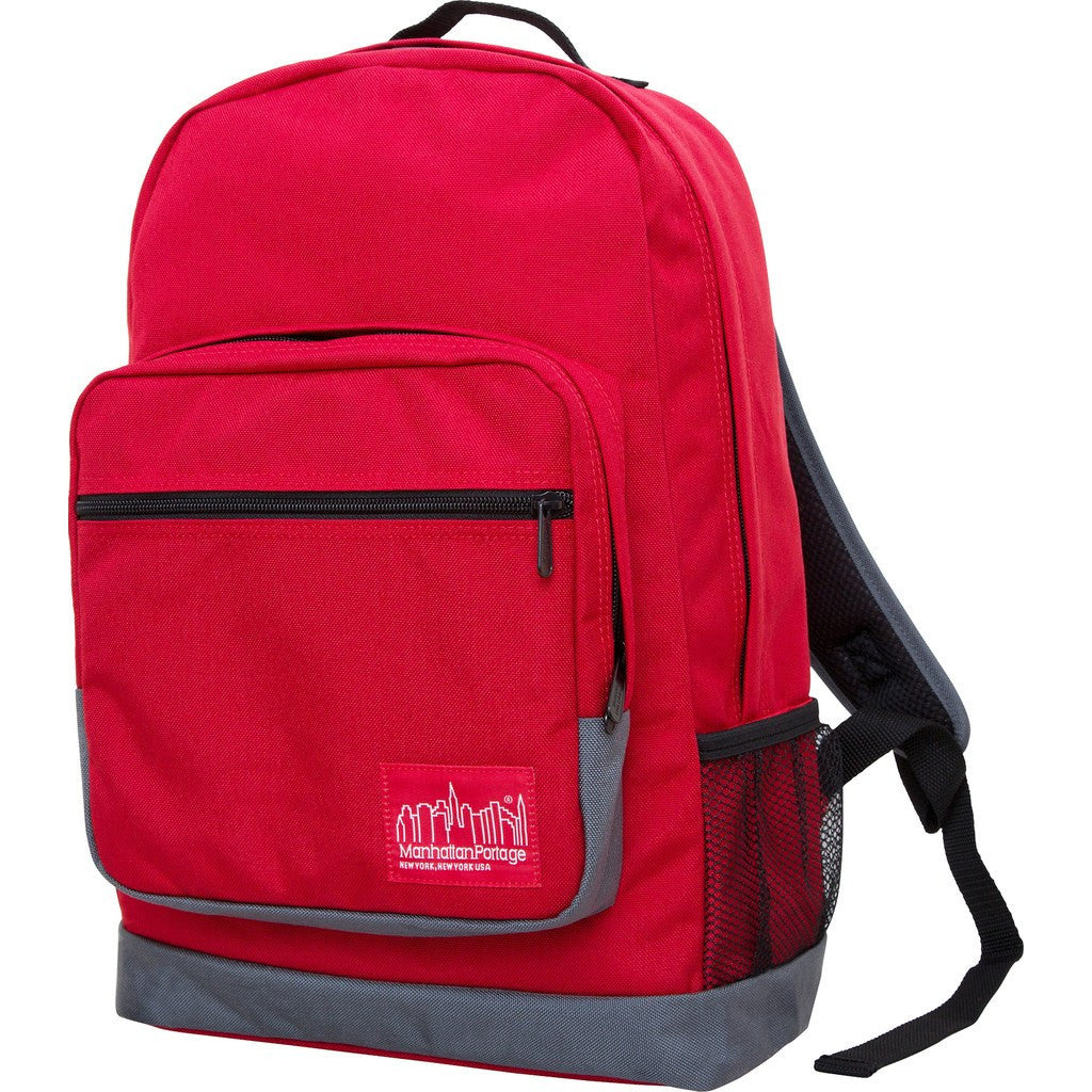 Manhattan Portage Morningside Backpack | 1212-MUL BLK/GRY/GRY | 1212-MUL BLK/RED/RED | 1212-MUL GRY/RED/RED | 1212-MUL RED/GRY/GRY