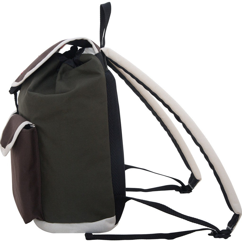 Manhattan Portage Army Duck Beekman Backpack | Green/Brown 1221-ARMY D