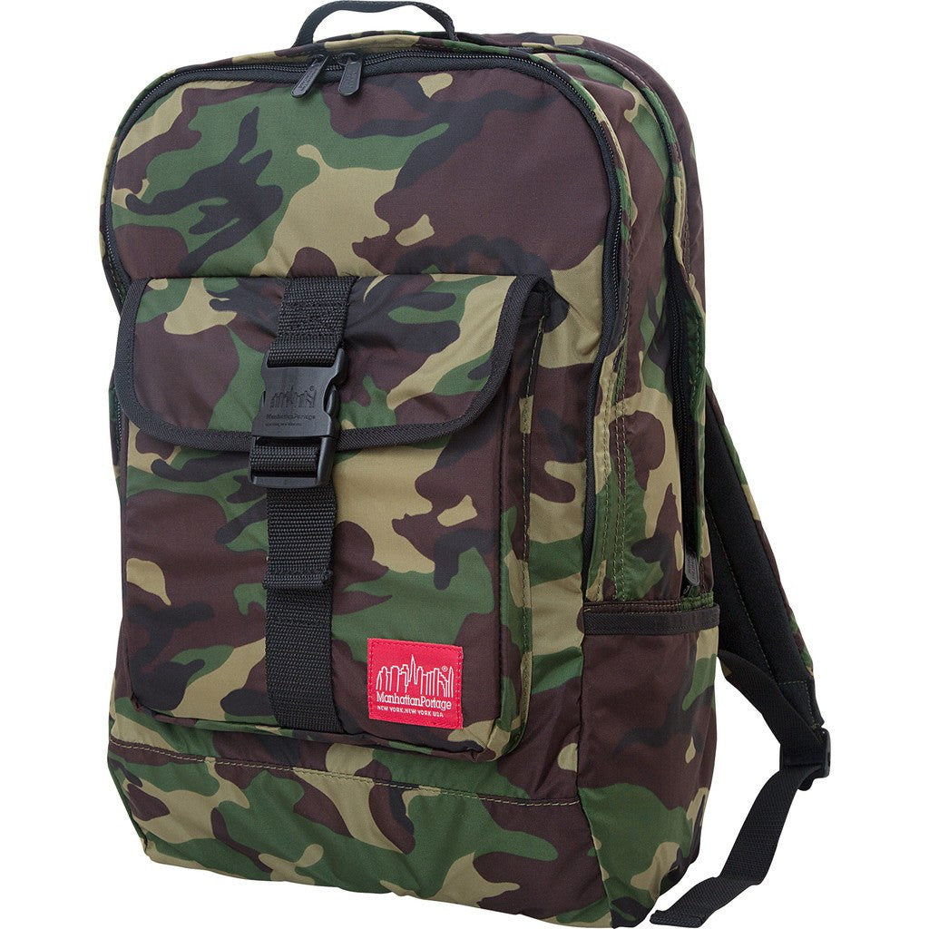 Manhattan Portage Cordura Lite Stuyvesant Backpack | Camouflage 1225-CD-L CAM/Green 1225-CD-L GRN/Purple 1225-CD-L PRP/Red 1225-CD-L RED/Yellow 1225-CD-L YEL