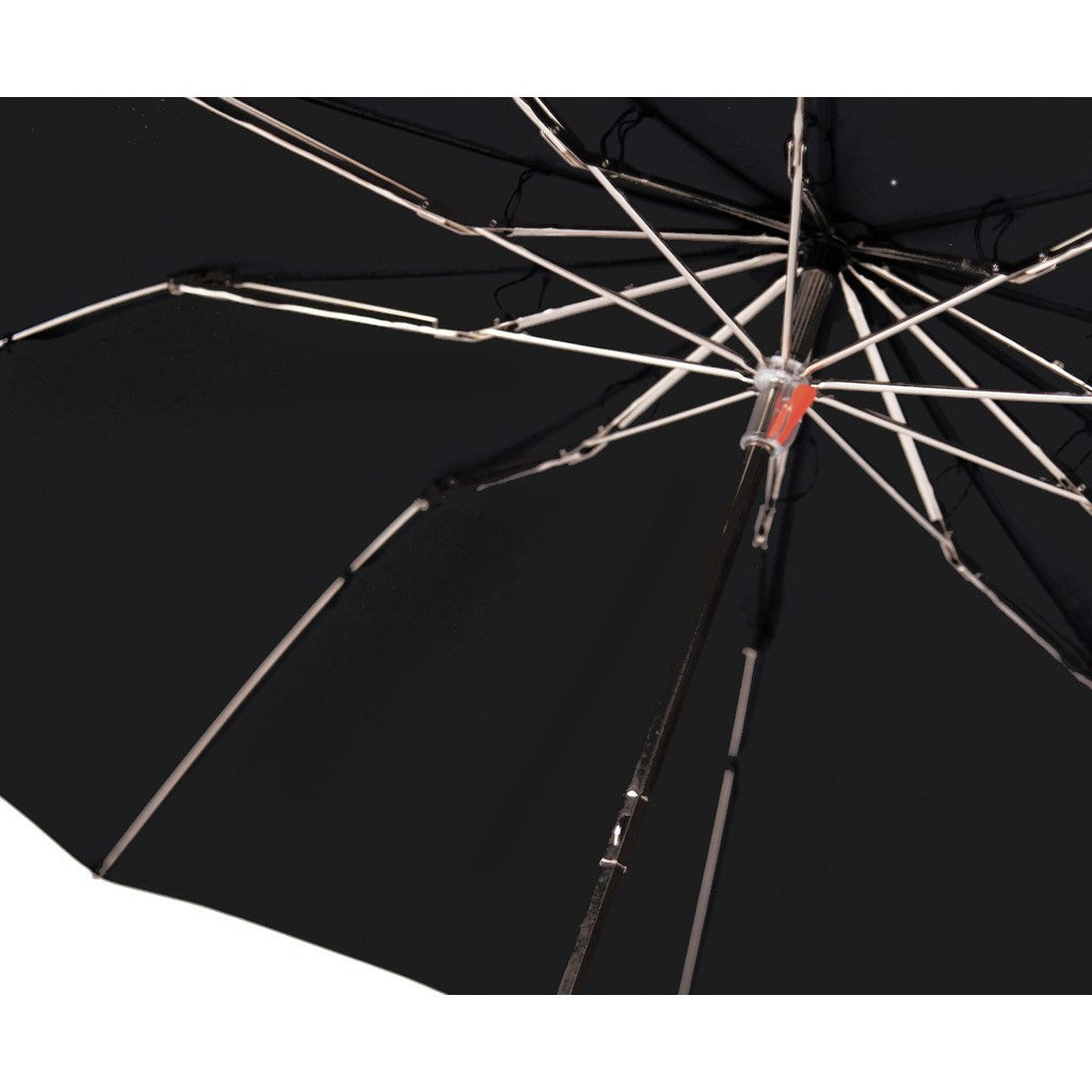 London Undercover Whangee Cane Crook Folded Black Umbrella | Bamboo Handle LU WHG-602
