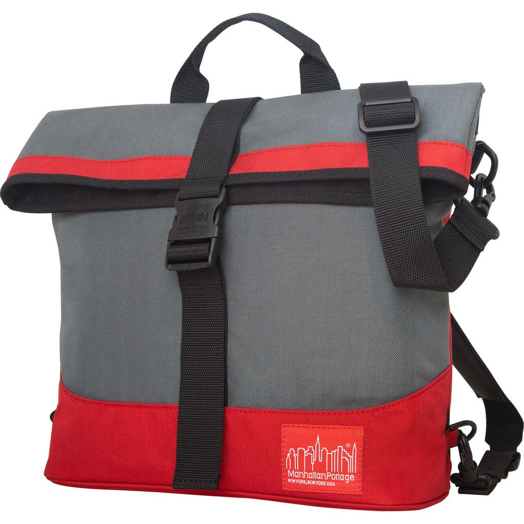 Manhattan Portage Double Dare Messenger Backpack | 1245 BLK | 1245 BLK/GRY | 1245 GRY | 1245 GRY/RED | 1245 NVY/GRY |1245 NVY/IBL | 1245 OLV/ORG | 1245 PRP/GRY | 1245 PRP/YEL