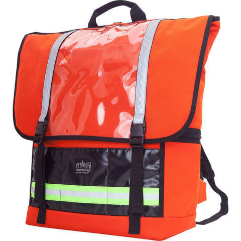 Manhattan Portage Large Empire Lite Backpack | Black 1250-LE BLK / Orange 1250-LE ORG