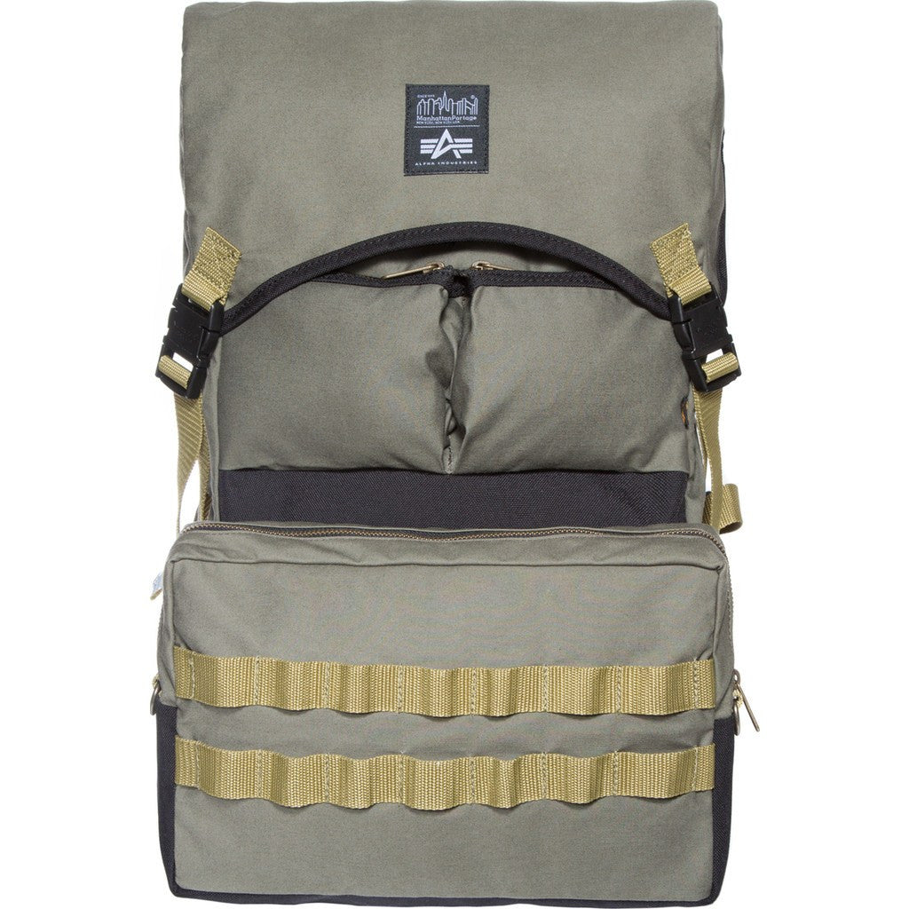 Manhattan Portage x Alpha Industries Molle Backpack | Olive 1260-ALPHA