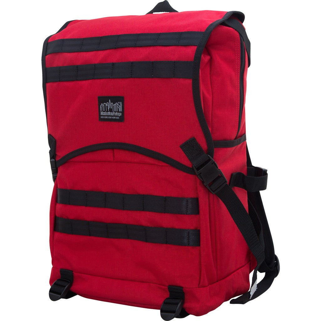 Manhattan Portage Fort Hamilton Backpack | Black 1260-BL BLK/Grey 1260-BL GRY/Navy 1260-BL NVY/Orange 1260-BL ORG/Red 1260-BL RED