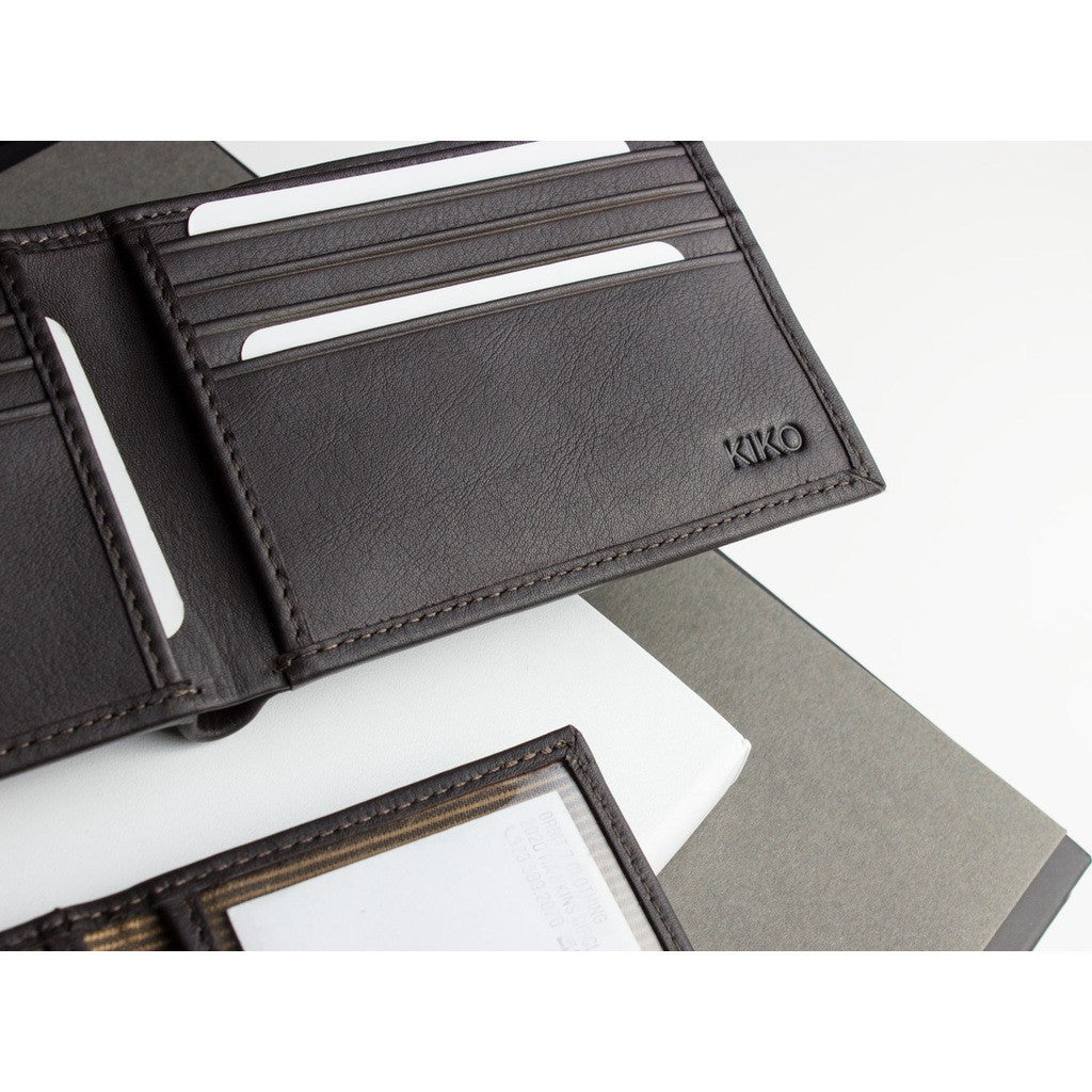 Kiko Leather Traditional Bi-Fold Wallet | Brown 127brwn