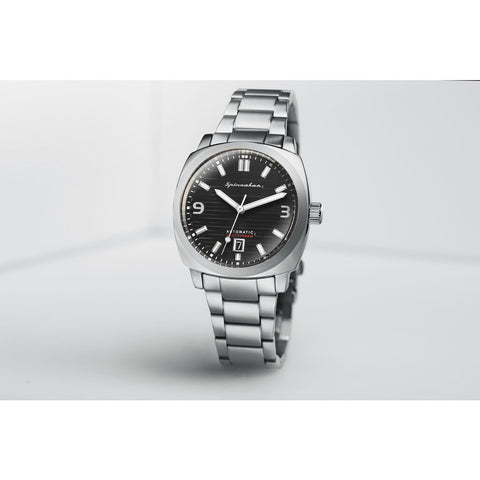 Spinnaker Hull Bracelet SP-5073-33 Automatic Watch | Black/Steel
