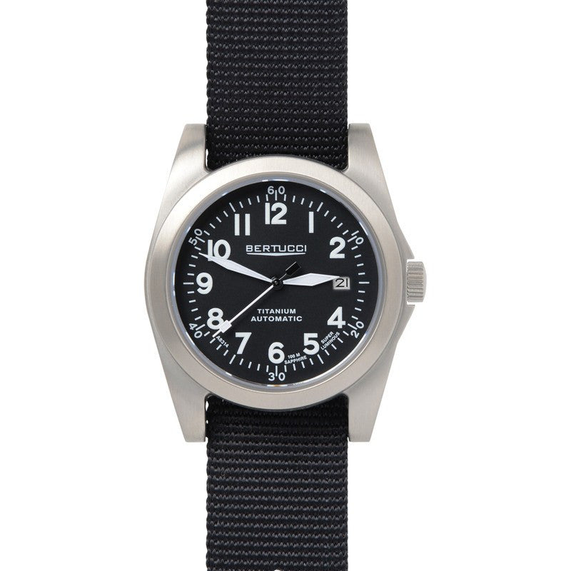 Bertucci A-3T Navigator Ti-Matic Watch | Black/Black