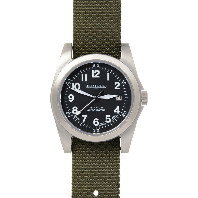 Bertucci A-3T Navigator Ti-Matic Watch | Black/Defender Olive