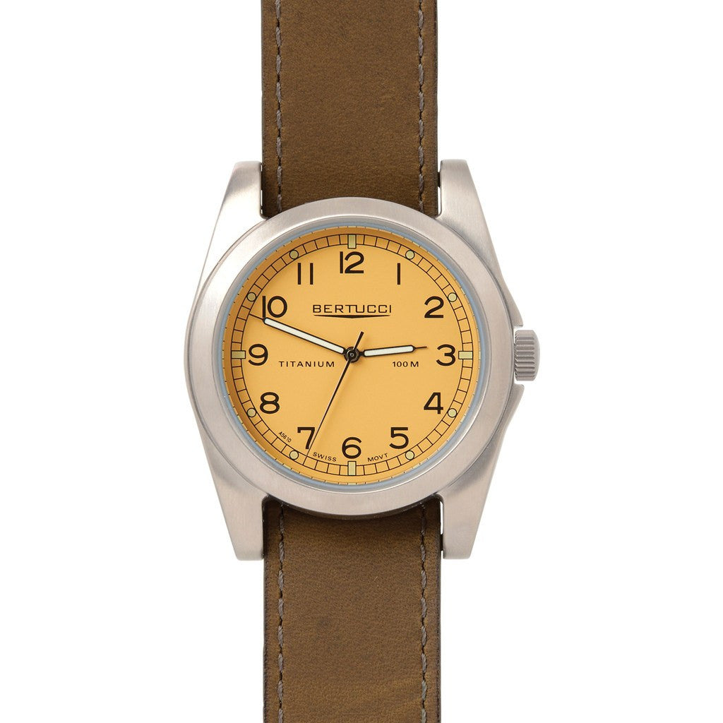 Bertucci A-3T Vintage Watch | Desert Stone/Olive Brown 13313