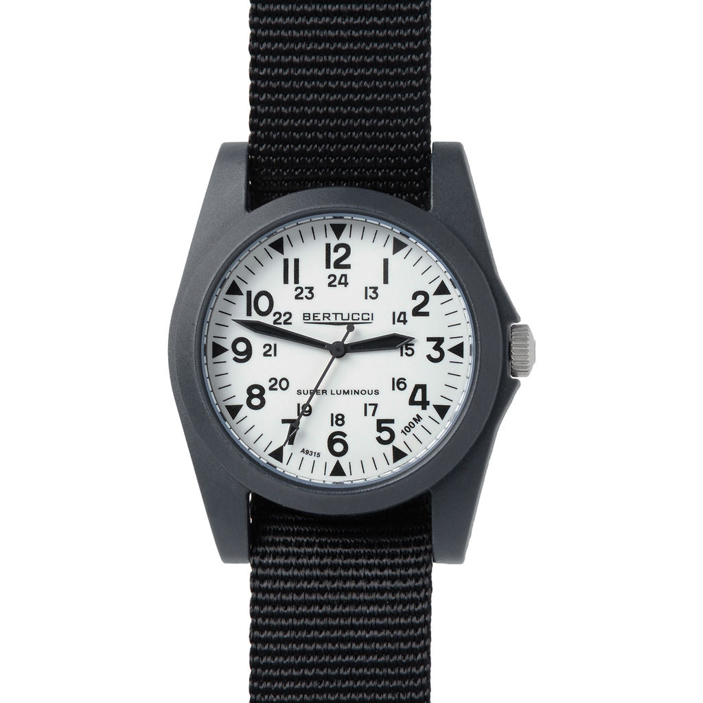 Bertucci A-3P Sportsman Vintage Field Watch | Super Lum/Black