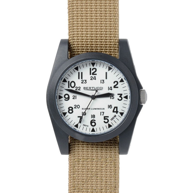Bertucci A-3P Sportsman Vintage Field Watch | Super Lum/Khaki 13357