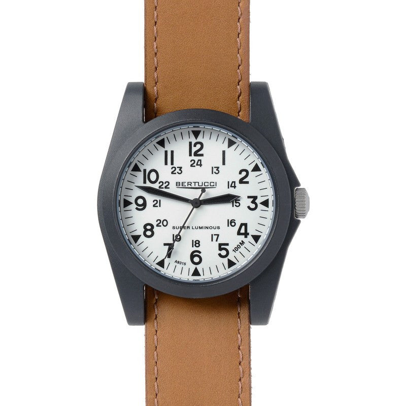 Bertucci A-3P Sportsman Vintage Field Watch | Super Lum /Tan 13358