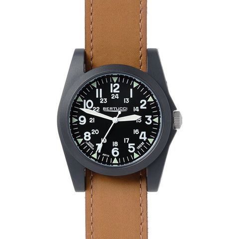 Bertucci Sportsman Vintage Watch | Black/Tan Leather 13363