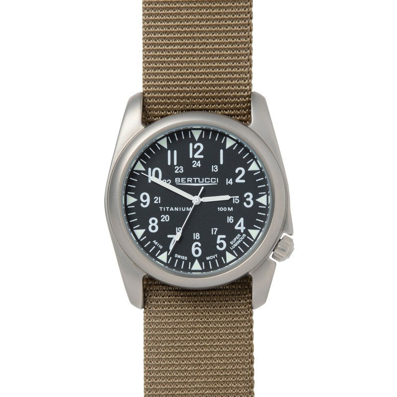 Bertucci A-4T Vintage Yankee Watch | Black/Dark Khaki