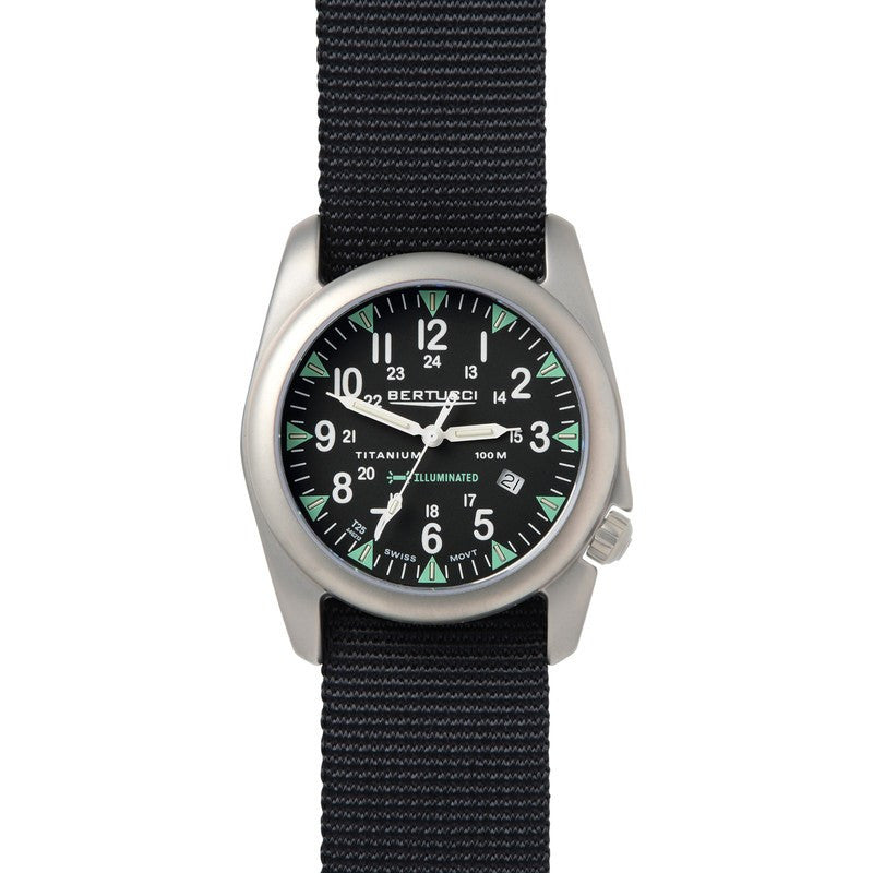 Bertucci A-4T Illuminated Watch | Black/Black