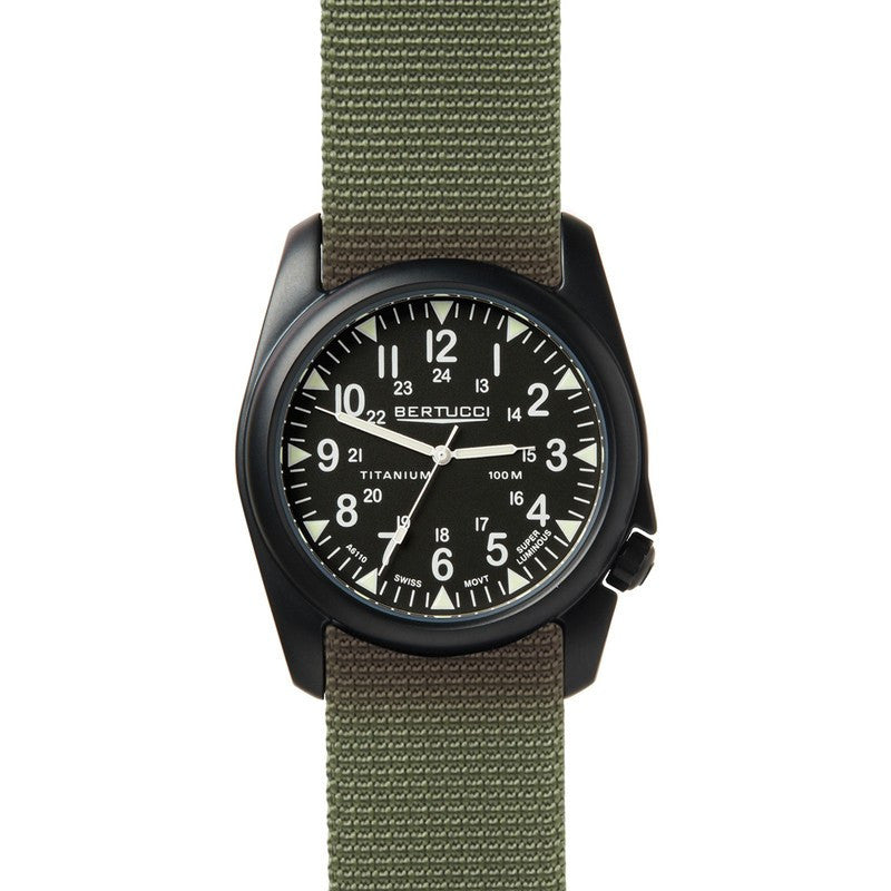 Bertucci A-4T Vintage 44 Yankee Field Watch | Black/Defender Drab 13414