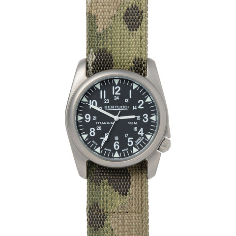Bertucci A-4T Vintage Yankee Watch | Black/Multicam Camo Nylon 13443