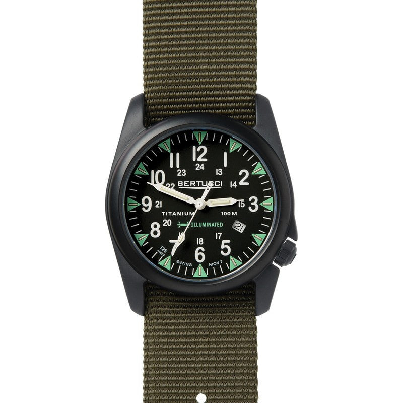Bertucci A-4T Yankee Illuminated Watch | Black/Olive