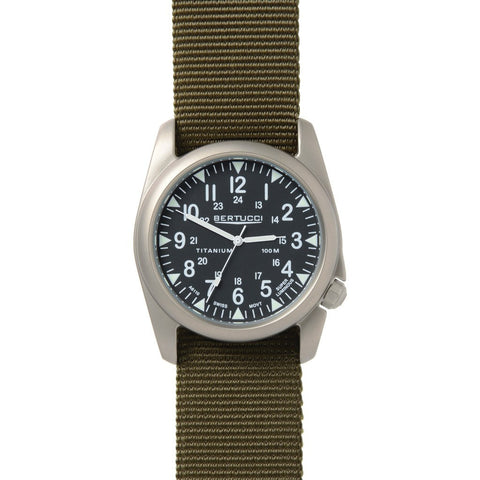 Bertucci A-4T Vintage Yankee Watch | Black/Defender Olive Nylon 13457