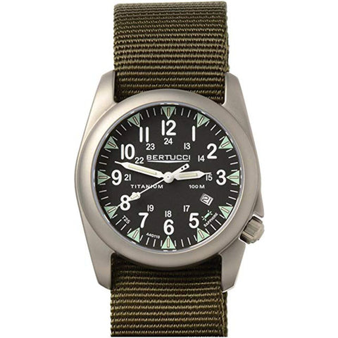 Bertucci A-4T Illuminated Modern Field Watch | Drab Nylon