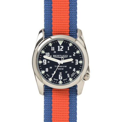 Bertucci A-4T Highpolish Watch | Black/Midnight Blue/Orange
