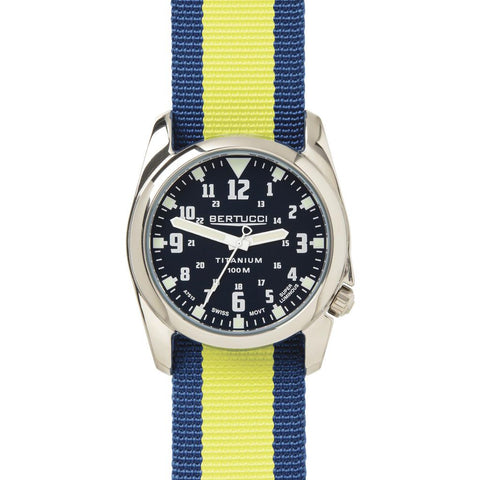 Bertucci A-4T Highpolish Watch | Black/Midnight Blue/Yellow