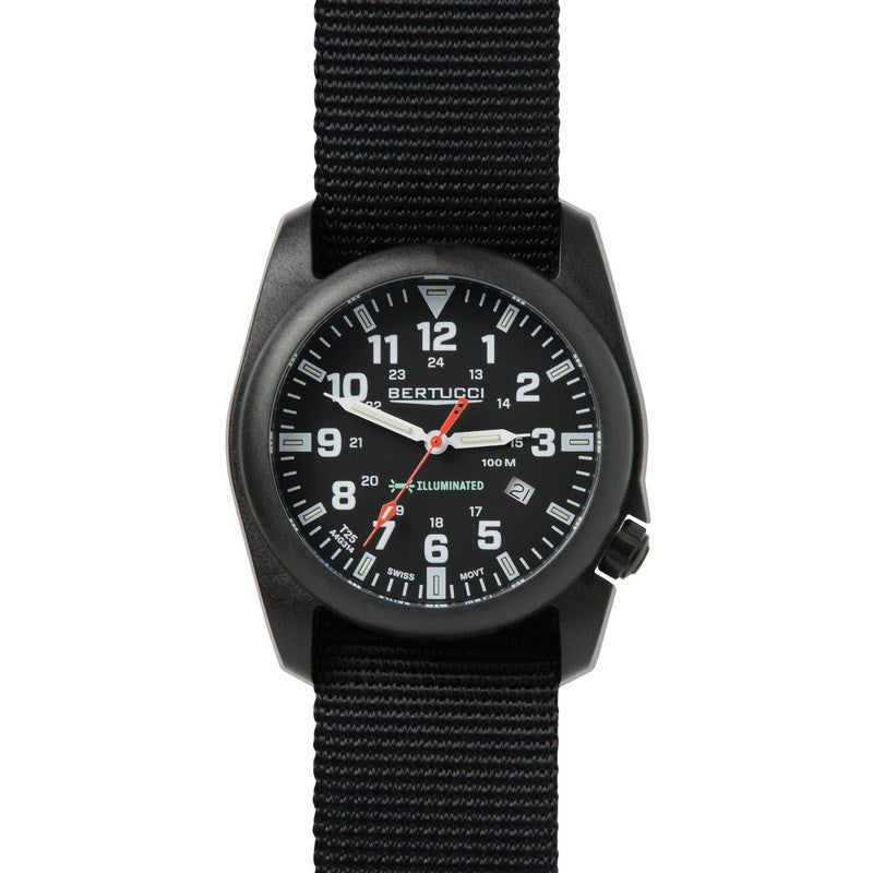 Bertucci A-5P Illuminated Watch | Black/Black