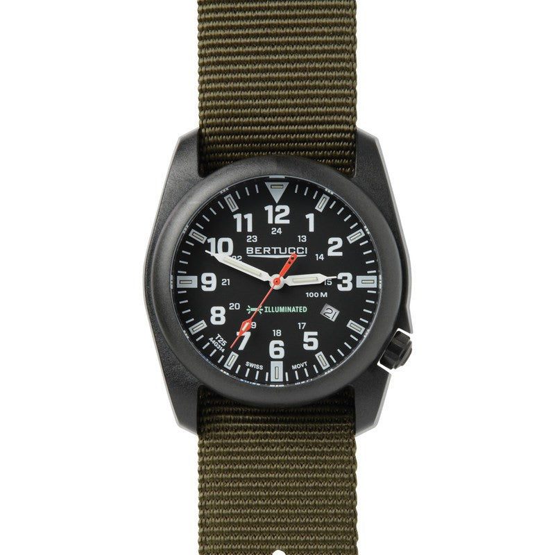 Bertucci A-5P Illuminated Watch | Black/Olive