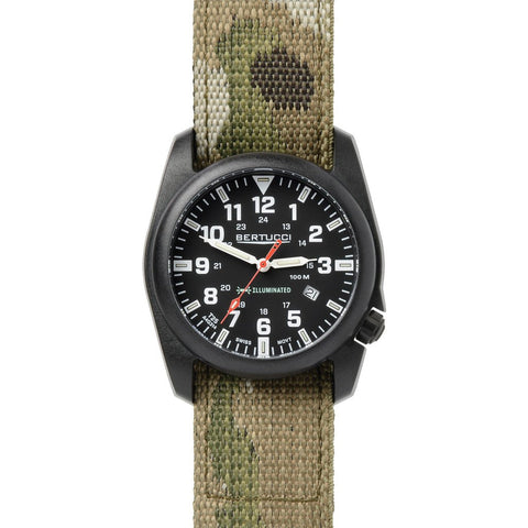Bertucci A-5P Illuminated Watch | Black/Muticam Camo Nylon 13503