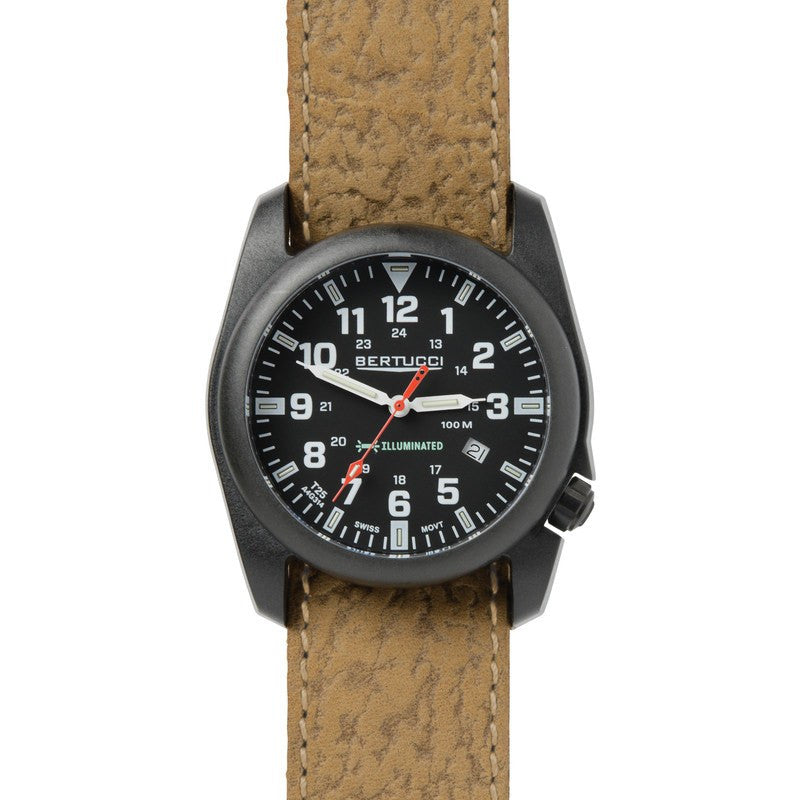 Bertucci A-5P Illuminated Watch | Black/Olive Survival