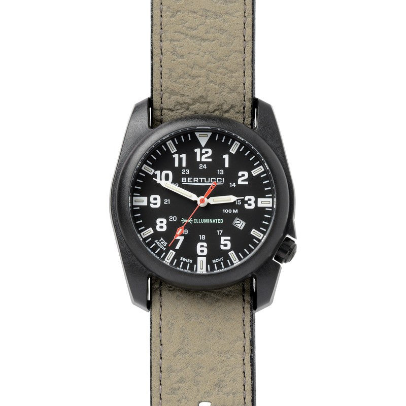 Bertucci A-5P Illuminated Watch | Black/Foliage 13506