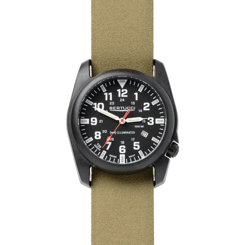 Bertucci A-5P Illuminated Watch | Black/Olive Drab 13507