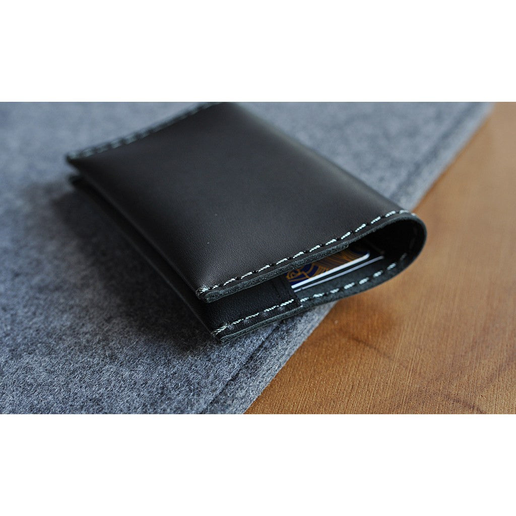 Kiko Leather Two Fold Card Case | Black 136