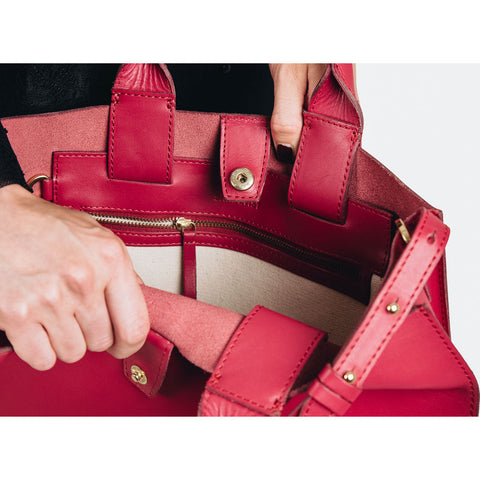 Sandqvist Kajsa Classic Tote Bag | Cherry Red
