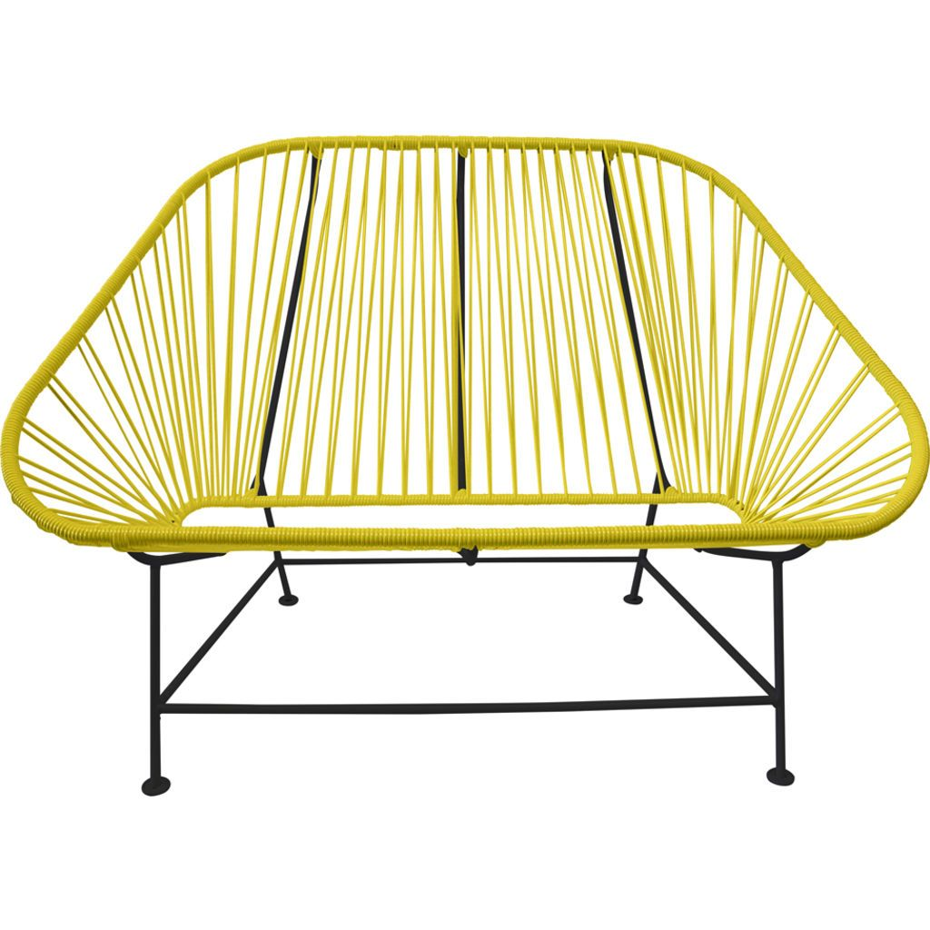 Innit Designs InLove Love Seat Couch | Black/Yellow