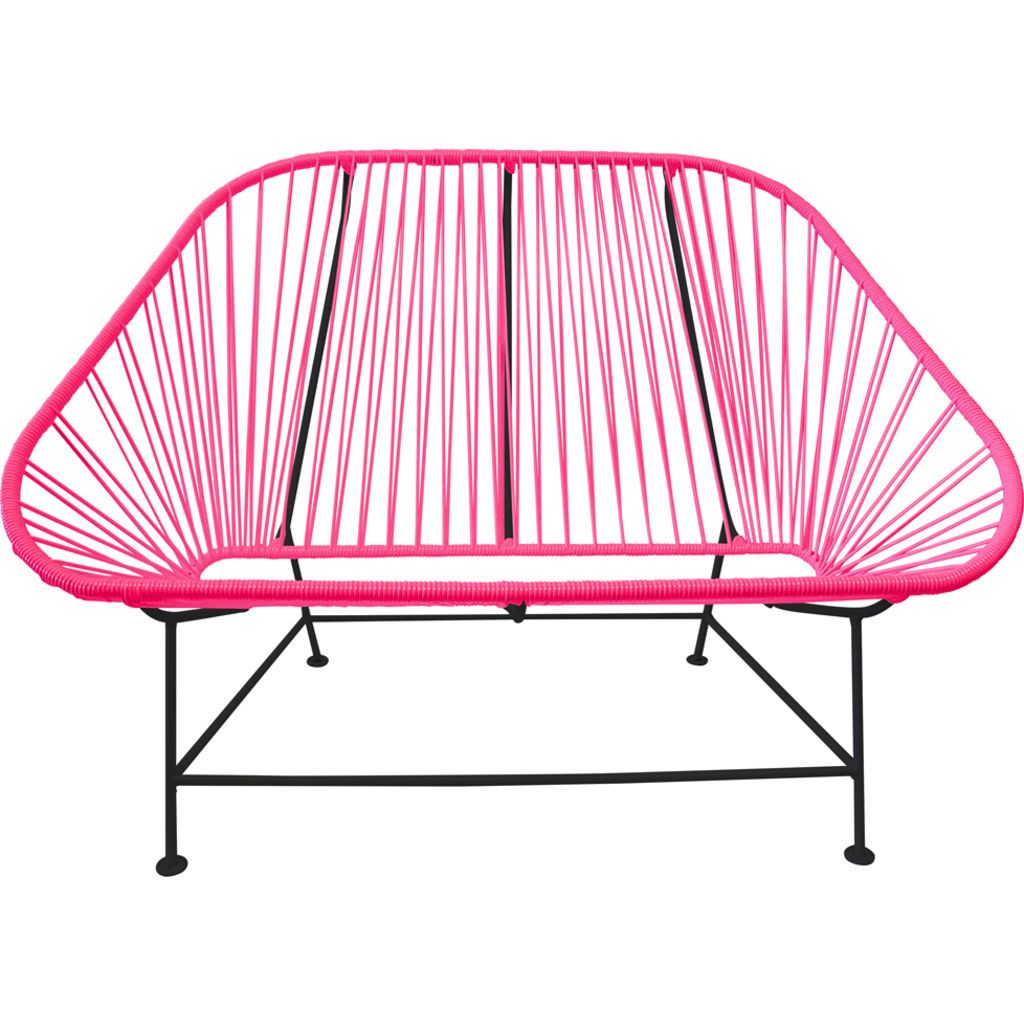 Innit Designs InLove Love Seat Couch | Black/Pink