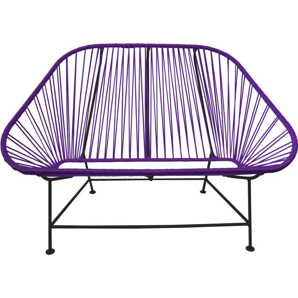 Innit Designs InLove Love Seat Couch | Black/Purple