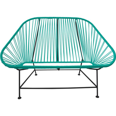 Innit Designs InLove Love Seat Couch | Black/Turquoise ...