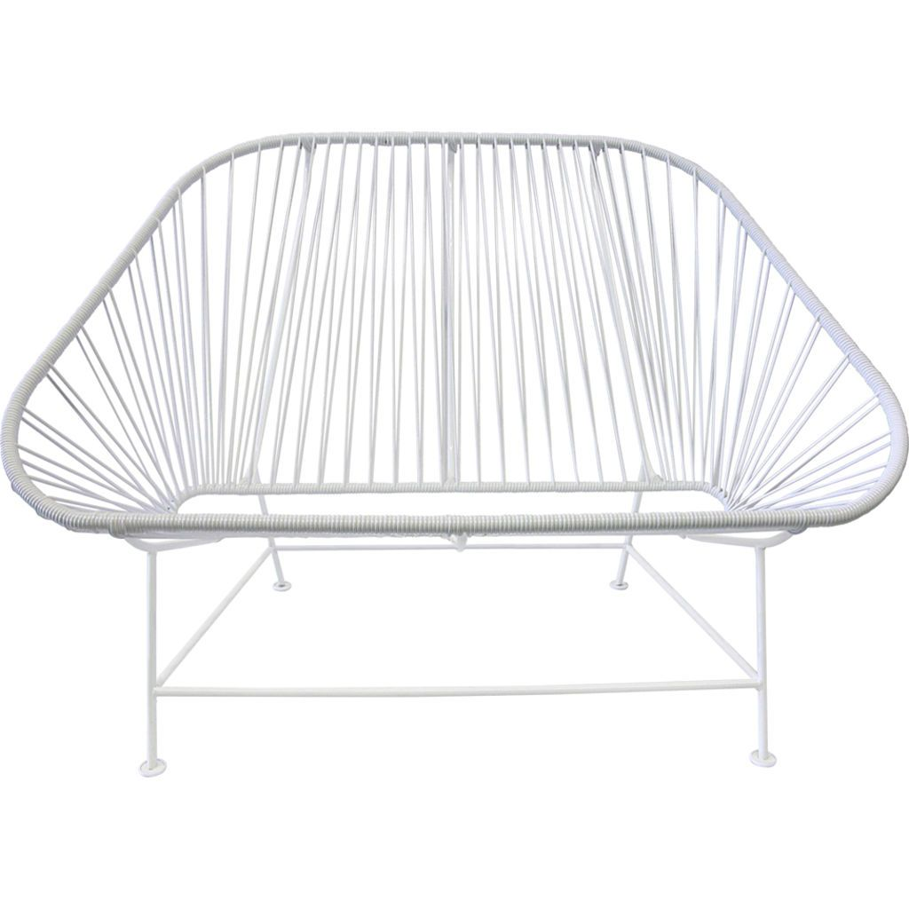 Innit Designs InLove Love Seat Couch | White/White