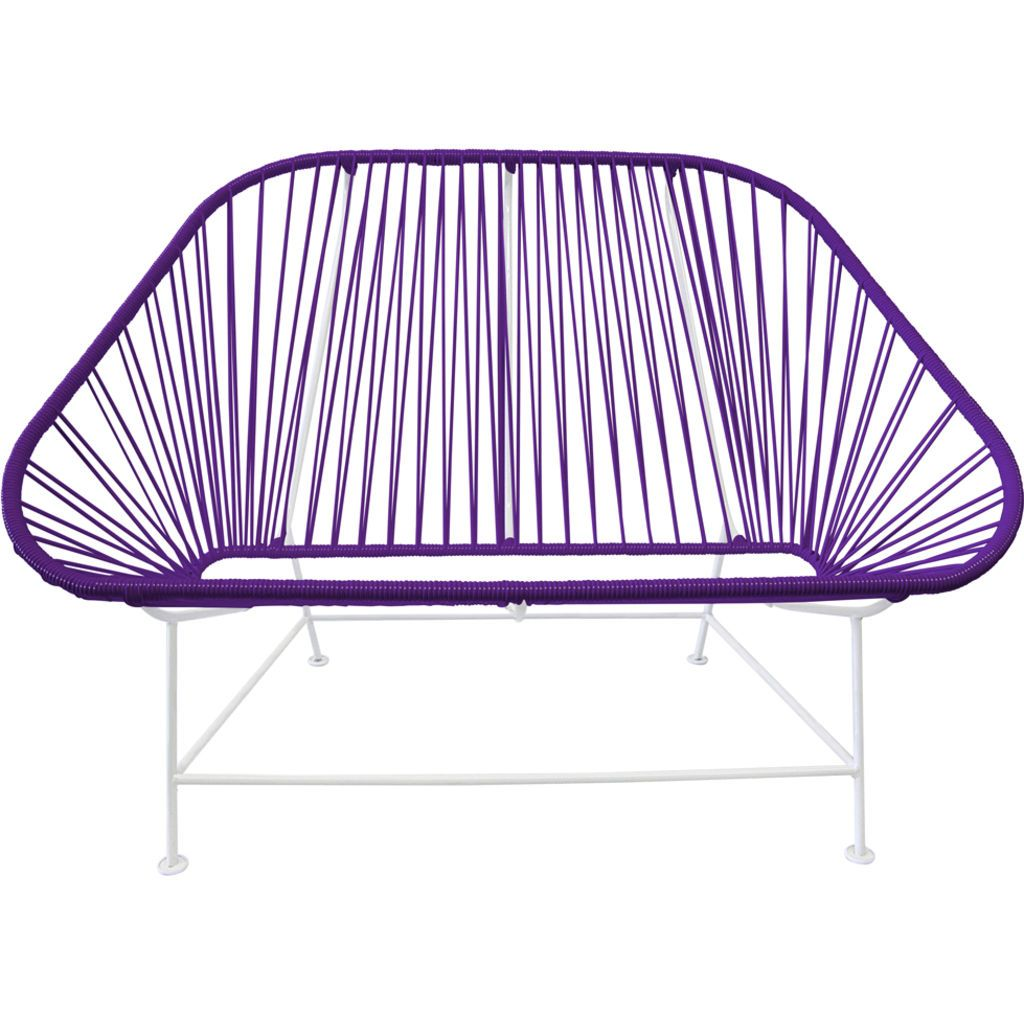 Innit Designs InLove Love Seat Couch | White/Purple