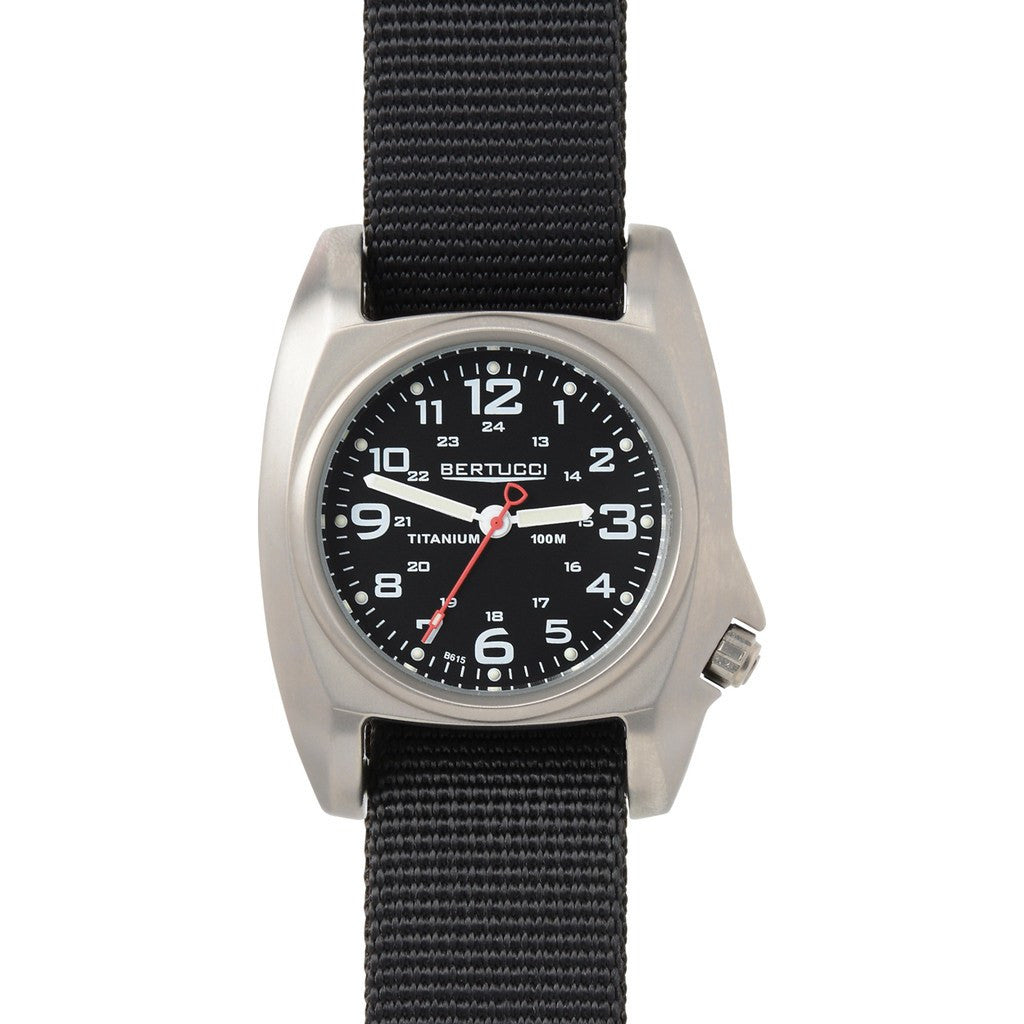 Bertucci B-1T Titanium Field Watch | Black/Black 14000